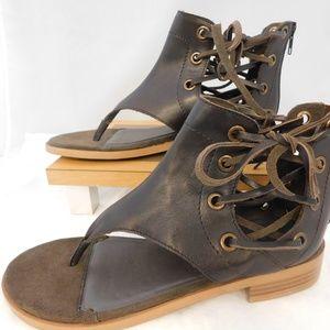 Women's Diba True Double Time Leather Sandals Sz 9